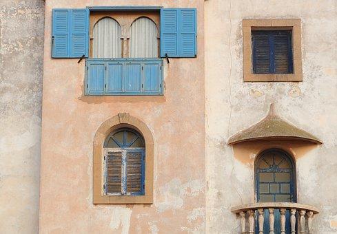 Morocco, Essaouira, Wall, Housing, Window, Balcony