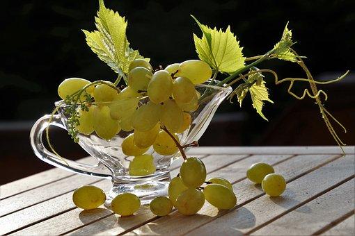 Grapes, Green, Lean, Tasty, Healthy Food, Foliage