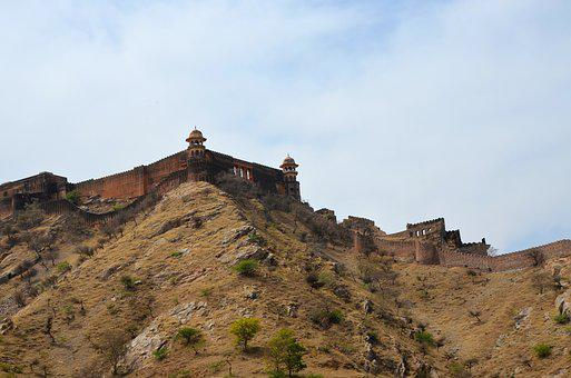 Fort, Tourism, India, Hill, Defence, Summer, Sky