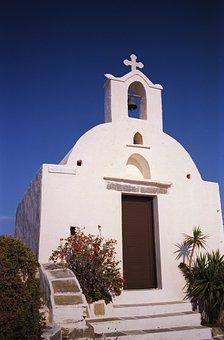Church, Travel, Greece, Ios, Cyclades, Mediterranean