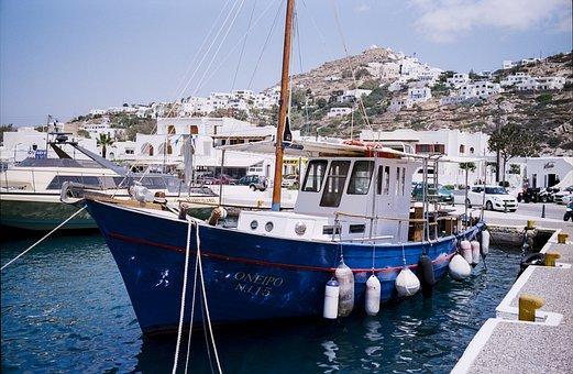 Travel, Greece, Ios, Cyclades, Mediterranean, Island