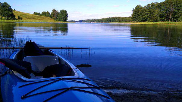 Lake, Kayak, Water, Poland, Nature, Landscape, Tourism