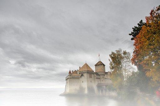 Castle, Magic, Atmosphere, Fog