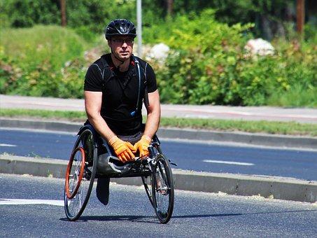 Sport, Traffic, Marathon, Games, Competition, Disabled