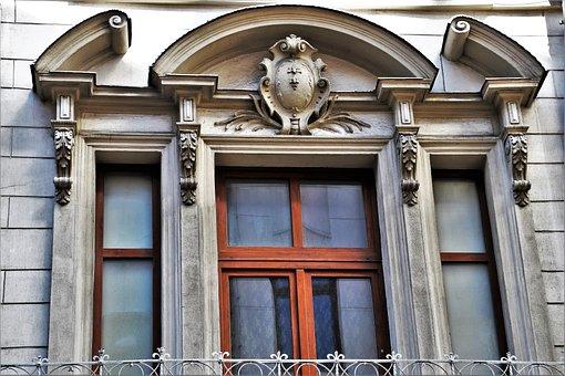 Old Windows, Facade, Window Sill, Monument, Figure