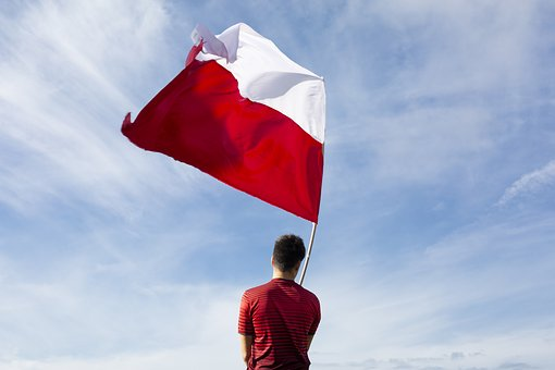 Flag, Red, White, Football, Twisted, Fan, Red And White