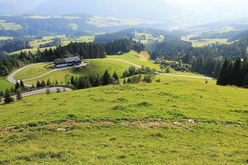 Austria, Mountains, Alps, Road, Lysogory, View