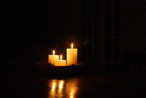 Candles, Mood, Background, Burning Candle, Romantic
