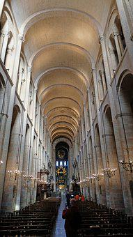 Toulouse, Basilica, Nave, Saint Sernin, Interior