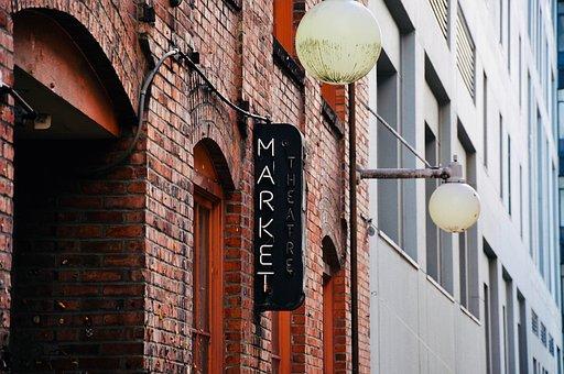 City, Shield, Market, Label, Sale, Homes, Facade, Brick