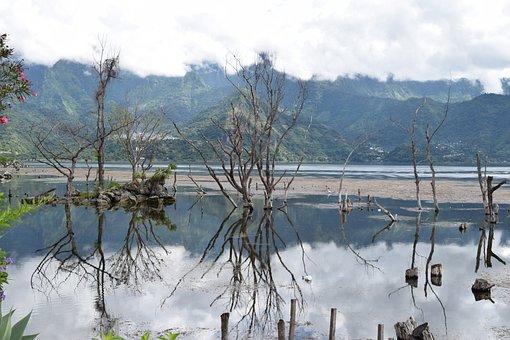 Guatemala, Lago Atitlan, San Pedro, Lake, Mirror Image
