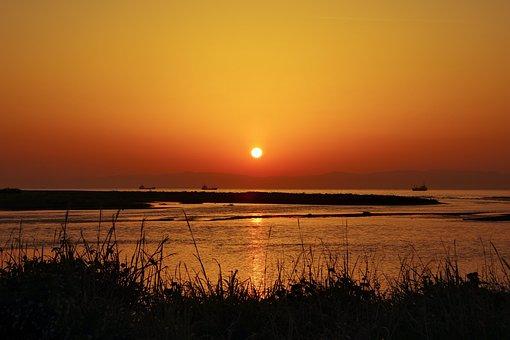 Sunrise, Sea, Asahi, Views, Morning Glow, Shadow