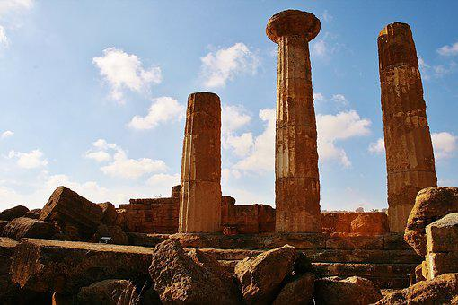 Temple, Antique, Antiquity, Sicily, Columnar
