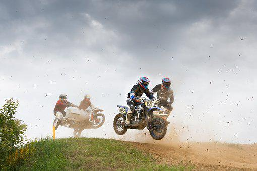 Side Car Race, German Championship, Inderbitzin Remo