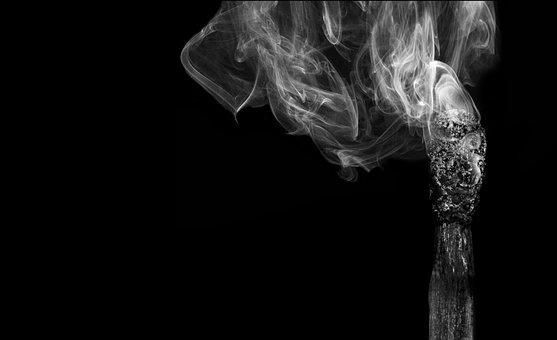 Match, Smoke, Burned Out, Burnout, Burn, Fire