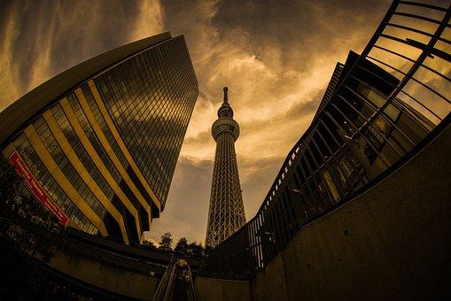 Sky, Tokyo, Tokyo Sky Tree, City, Tokyo Solamachi