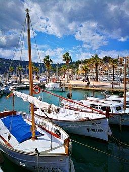 Sailboats, Tourism, Balearic Islands, Mediterranean Sea