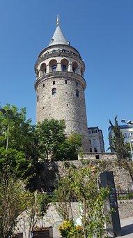 Galata, Tower, Stone, Building