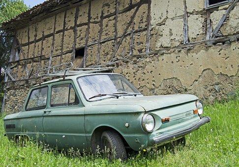 Soviet Car, Ukraine, Vintage, Air Cooled, Rear Engine