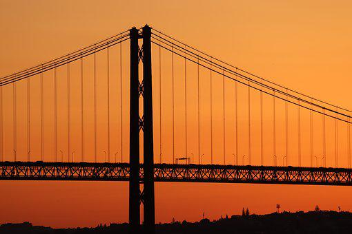 Bridge, Sunset, Silhouette, Abendstimmung, Atmosphere