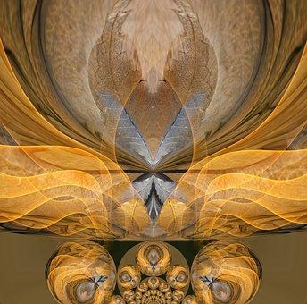 Abstract, Digital, Gold, Modern, Futuristic, Pattern