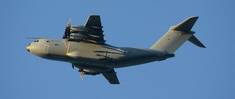 Airbus, A400m, Landing, Plane, Aircraft, Undercarriage