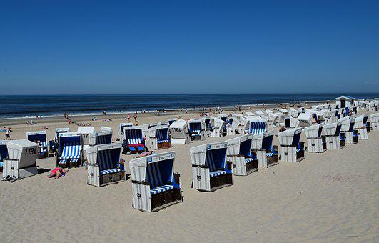Sylt, Westerland, Beach, Sea, Beach Chair, Sand Beach