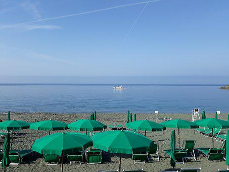 Sea, Beach, Bonassola, Liguria