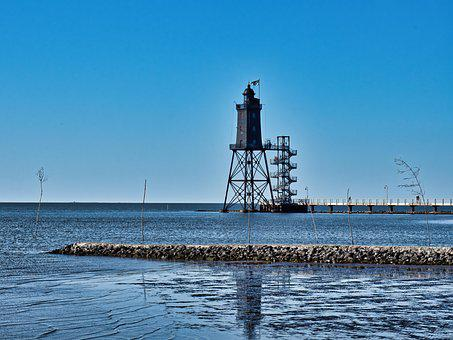 Lighthouse, North Sea, Watts, Wadden Sea, Beacon, Mood