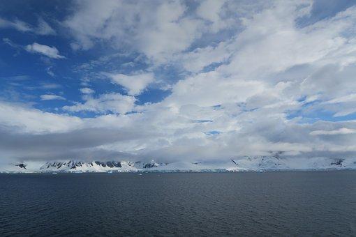 Antarctica, Ice, Snow, Sky, Landscape, Blue, Iceberg
