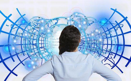 Woman, Businesswoman, Business, Worldwide, Binary, Null