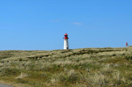 Sylt, Elbow, Lighthouse, Daymark, Shipping