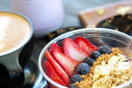 Coffee, Coffee Shop, Dessert, Strawberry, Food