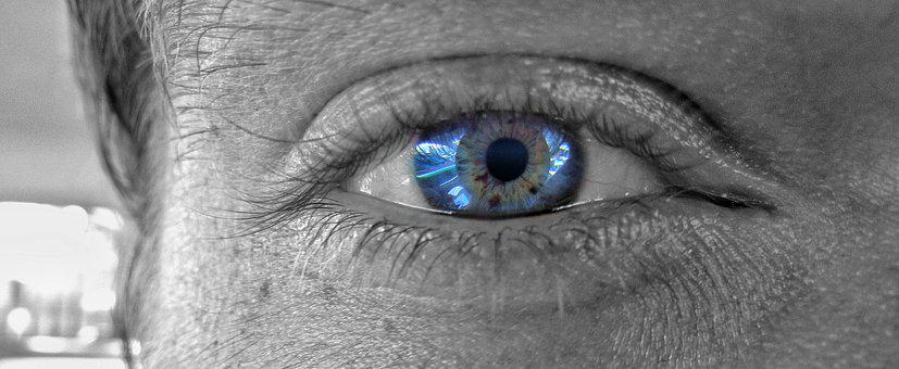Eyeball, Eyelash, Vision, Eyesight, Face, Blue