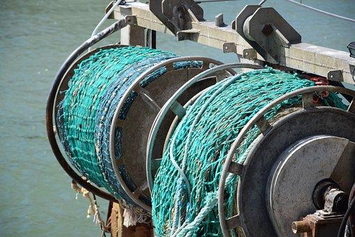 Fishing, Net, Port, Sea, Fisherman, Traditional Fishing