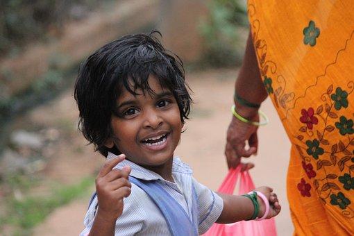 Girl, Child, India, Happiness, Smile, Happy