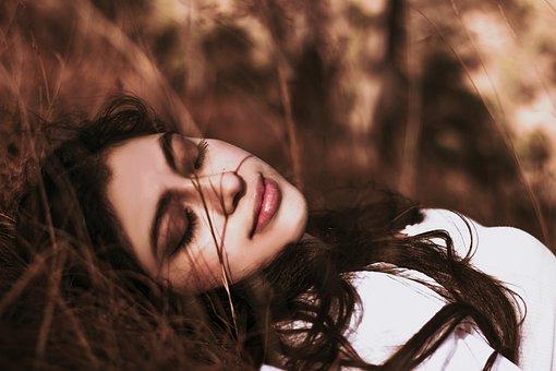 Girl, Inspired, Grass, Autumn, Portrait, Beauty
