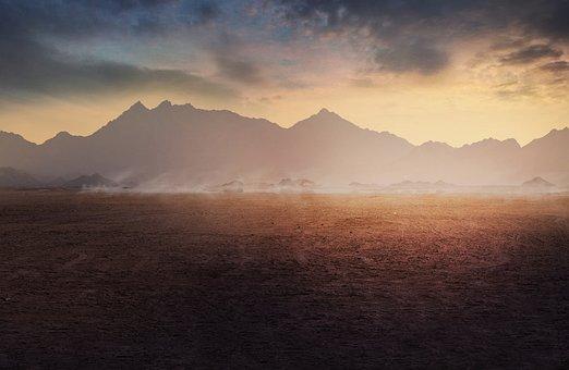 Image Manipulation, Landscape, Mountains, Sunrise