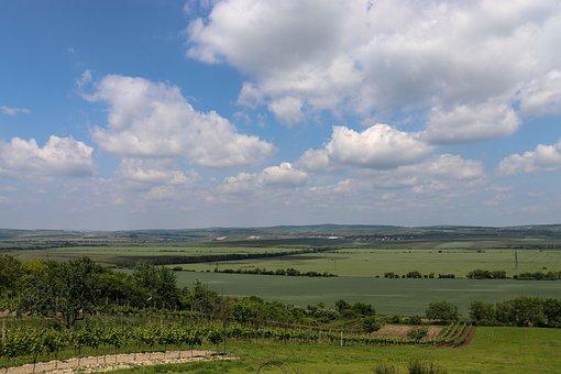 Landscape, Field, South Moravia, View, Nature, Sky