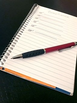 Compliance, Pen, Notepad, Checklist, Policy, List