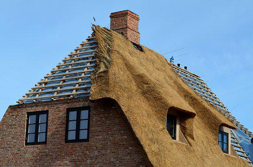 Thatched Roof, Roofing, Sylt, List, Island, Craft