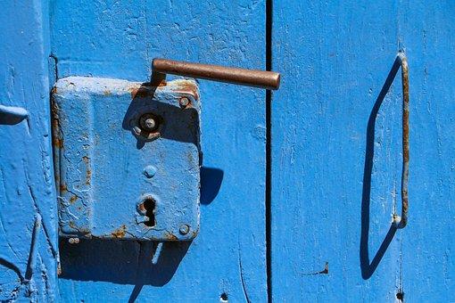 Croatia, Prozura, Prožura, Blue, Lock, Door