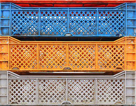 Morocco, Essaouira, Fishing, Crate, Fish, Containers