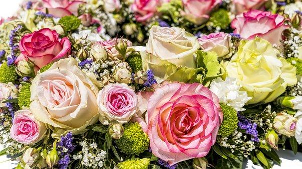 Flowers, Roses, Wedding, Blossom, Bloom, Nature, Summer