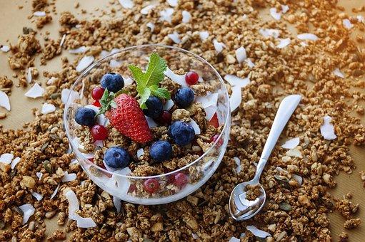 Granola, Berry, Oatmeal, Healthy, Diet, Muesli, Organic