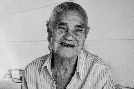 Portrait, Elderly Woman, Old, Face, Wrinkles, Person