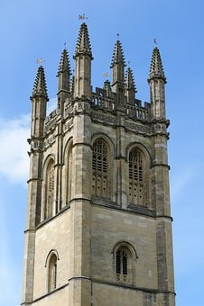 Oxford, Magdalen, College, Tower, May, Day, Oxfordshire