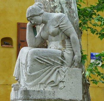 Statue, Pain, Maillol, Ceret, Sculpture, Heritage