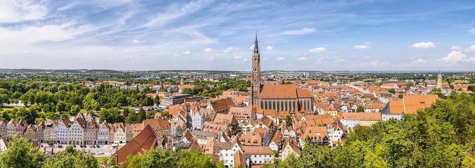 Landshut, Panorama, City, Historically, Bavaria