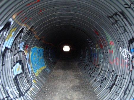 Tunnel, Metal, Passageway, Path
